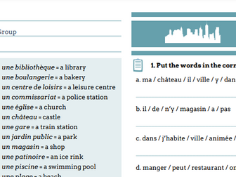 """French activities """"Ma ville"""""""