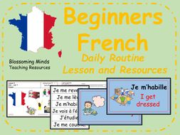 French lesson and resources - Daily Routine
