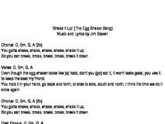 Shake it Up (Egg Shaker Song)