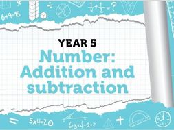 Year 5 - Addition and Subtraction - Week 4