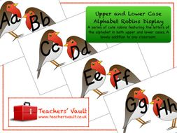 Mixed Case Alphabet Robins Display
