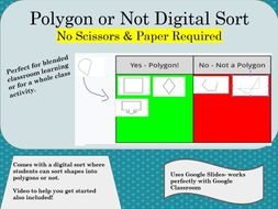 Digital Sort- Polygons and Non-Polygons - Perfect for Years 3-6