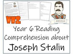 Jospeh Stalin - Year 6 Reading Comprehension Activity