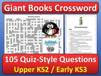 Books Quiz Crossword