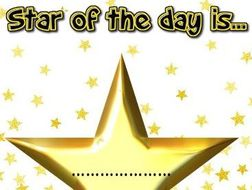 Star of the day- Behaviour aid