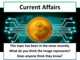 Current Affairs Form Time Activity - Bitcoin
