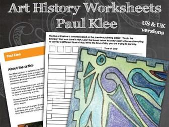 Paul Klee Worksheets and Art Activities