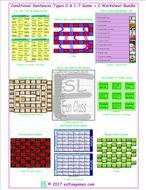 Conditional Sentences Types 0 & 1-7 Game Plus 2 Worksheet Bundle