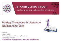 Writing, Vocabulary & Literacy in Mathematics: Time (Int)