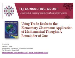 Using Trade Books in the Elementary CR: App of Mathematical Thought: If the World Were a Village
