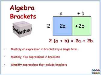 gcse algebra the box method multiplying expressions in brackets