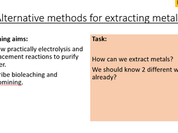 AQA C14.4 Extracting Metals from Ores