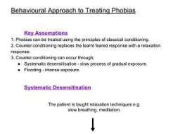 Behavioural Approach to Treating Phobias