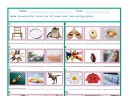 Phonics Vowel Team OA Photo Worksheet