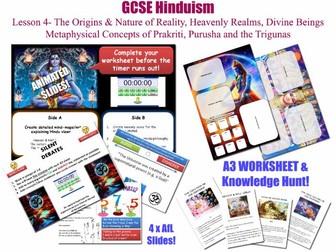 GCSE Hinduism - Lesson 4/20 [Origins & Nature of Reality, Heavenly Realms, prakriti, purusha...]