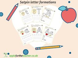 Handwriting Sheets SATPIN with memorable rhymes FREE EYFS KS1 by ...