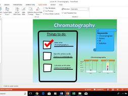 AQA A level Biology Chromatography Lesson