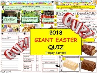2018 Giant Easter Quiz - End of Term Quiz