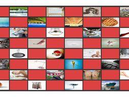 Phonics Consonant Letters f-s-k-l-p-t Photo Checkerboard Game