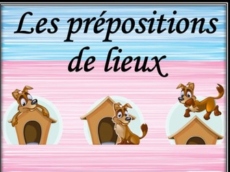 French prepositions of place. Memory game.