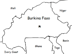 BURKINA FASO - Introductory Geography Worksheet