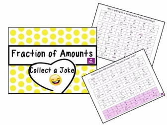 Fractions of Amounts (Collect a Joke)