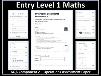 AQA Entry Level Maths Assessment - Operations