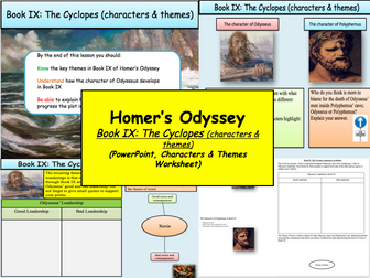 Homer's Odyssey – Book IX: The Cyclopes (characters & themes)