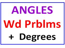 Angles Word Problems PLUS Angles, Degrees & Measurement