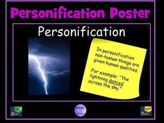 Figurative Language - Personification Poster