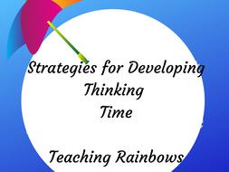 Strategies to encourage thinking time.