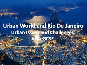 Urban Issues and Challenges - Rio De Janeiro Case Study
