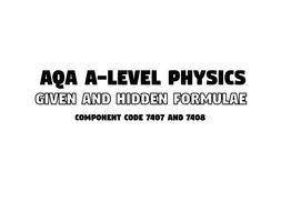 AQA A Level Physics - All Formulae