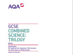 AQA combined science trilogy revision mats