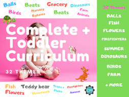 Toddler Curriculum (2 to 3 years old): Daycare /  Play Group Suitable Curriculum
