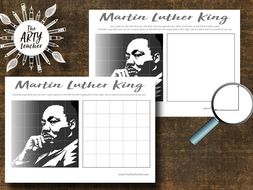 Martin Luther King Grid Drawing