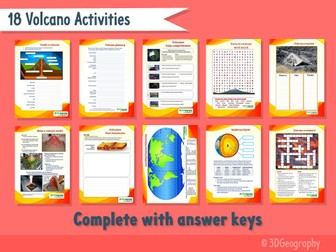 Volcano worksheets complete with answers