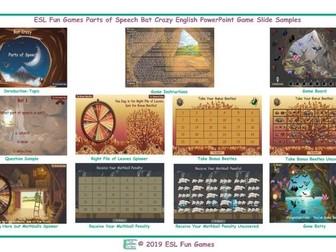 Parts of Speech Bat Crazy Interactive English PowerPoint Game