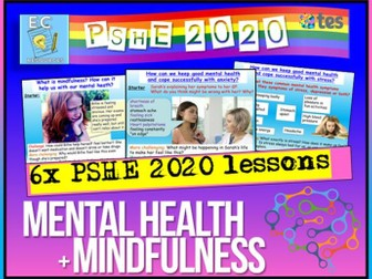 Mental Health + Mindfulness PSHE 2020
