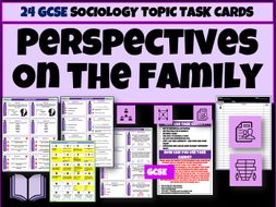 Perspectives on the family Sociology Task Cards