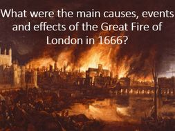 The Great Fire of London, 1666