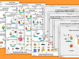 Year 1 Compare Mass Spring Block 4 Step 3 Maths Lesson Pack