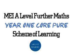 MEI AS Core Pure Scheme of Learning