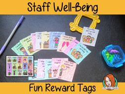 Staff Well-Being Fun Reward Tags