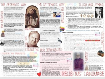 OCR Philosophy of Religion: Religious Language - Learning Mat