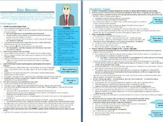 Eric Birling Grade 9 Study/Revision Guide (An Inspector Calls)