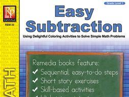 Easy Subtraction: Coloring Activities