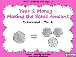 Year 2 Money - Making the Same Amount