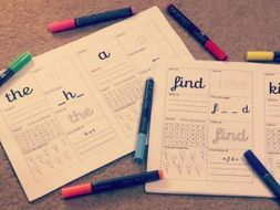 Year 1 and Year 2 Common Exception Word Activity Sheets
