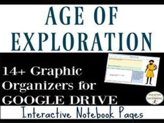 Age of Exploration Interactive Notebook Digital Graphic Organizers on Age of Discovery